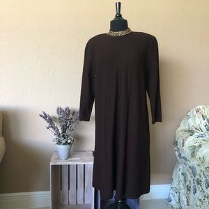 STEVE FABRIKANT SAKS Dress sweater vintage Large